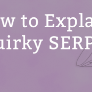 How to Explain Quirky Search Results